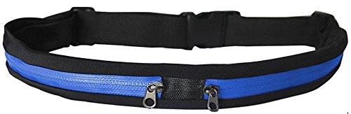 GRANDCOW Outdoor Sport Waist Belt Purse Bag Running Belt Pouch Pocket Wallet for 31-47 Inches Waist (Blue)
