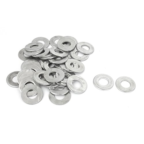UPC 712662763376, uxcell M10x20mmx1.5mm Stainless Steel Round Flat Washer 40Pcs for Bolt Screw