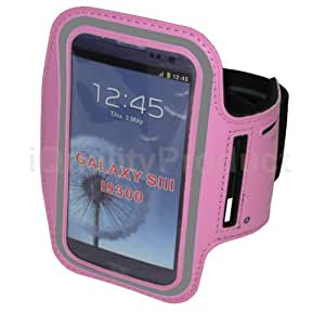 Sports Workout Arm-Band for Samsung Galaxy S4 S3 S2 Phones - Pink