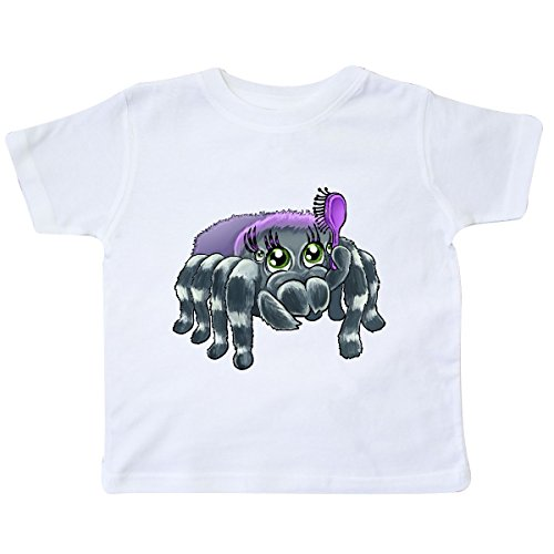inktastic - Cute Girl Spider Toddler T-Shirt 5/6 White