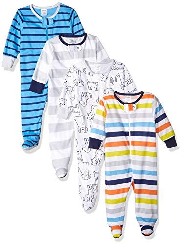 Onesies Brand Baby Boys' 4-Pack Sleep 'N Play, Dog, 0-3 Months