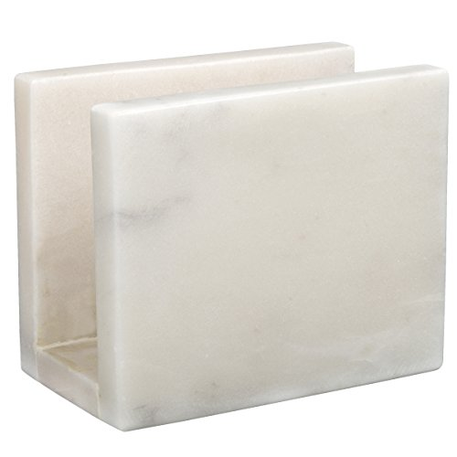 Natural Marble Tabletop - Creative Home 32763 Natural Marble Stone Table Top Napkin Holder, 3