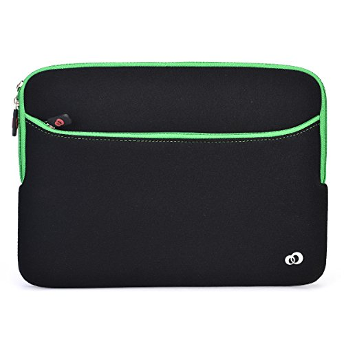 Black/Green Universal Neoprene Sleeve With Accessory Pock...