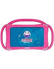 SoyMomo Tablet Lite - kindertablet met kinderbeveiliging, detectie van gevaarlijke inhoud, 7 inch display, 16 GB geheugen, 2 GB RAM, camera - met siliconen hoes roze