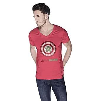 Creo Captain Lebanon T-Shirt For Men - L, Pink