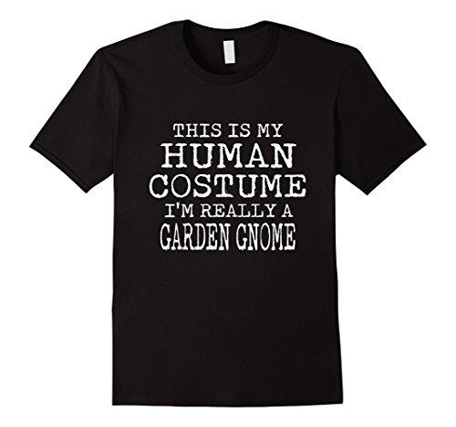 Garden Gnome Halloween Costumes (Mens GARDEN GNOME Halloween Costume shirt Easy for Men, Women Medium Black)