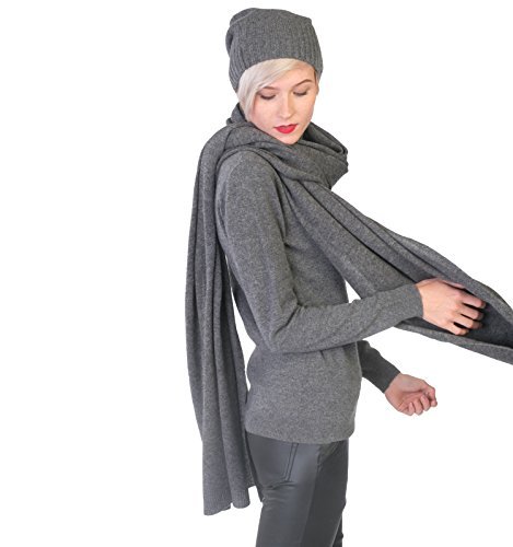 100% Cashmere Wrap Shawl Stole Extra Large Scarf -by cashmere 4 U