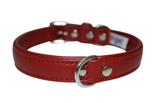 Leather Dog Collar, Padded, Double Ply, 18