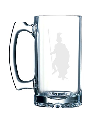 Greek Olympians - Ares Greek God of War Military Mars - 26.5 Ounce Glass Mug Stein