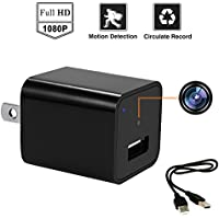 Amyway USB Wall Charger Adapter Hidden Camera/Nanny Cam with HD1080P With 16GB Internal Memory