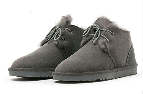 SONGYUNYAN Damen Schaf Fell Warm Mini Snow Boots 2
