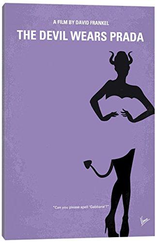 (iCanvasART The Devil Wears Prada Minimal Movie Poster Canvas Print 40