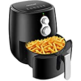 CHULUX Electric Air Fryer(4.2qt), Power Airfryer Oven Oilless Cooker with Cookbook and Baking Tray, Healthy Oil Free Cooking, 30 Minute Timer, Auto Shut Off & Memory Feation for French Fries, Chicken