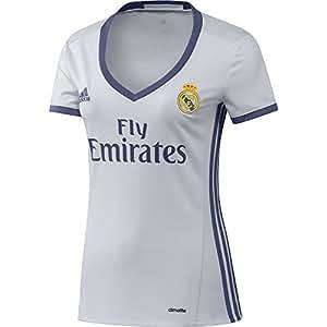 adidas H JSY W Camiseta 1ª Equipación del Real Madrid CF 2015/16, Mujer, Blanco/Morado, XS