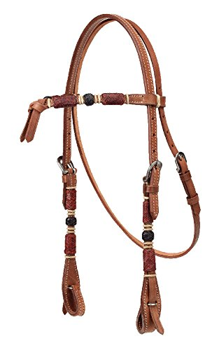 Rawhide Futurity - The Colorado Saddlery Light Futurity Headstall with Rawhide Overlay