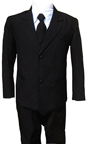 Boys Black Tuxedo Suit with Tie Young Men Youth Size 8