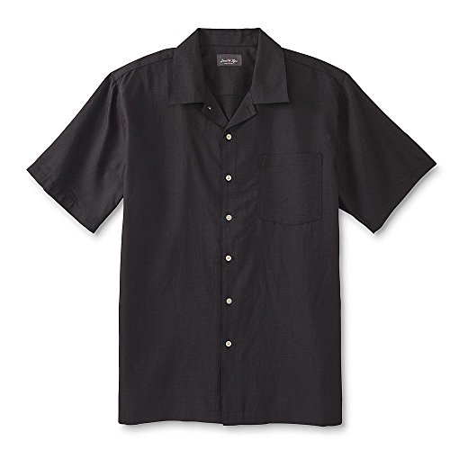David Taylor Collection Men's Button-Front Shirt Black Size Small (Taylor Collection)