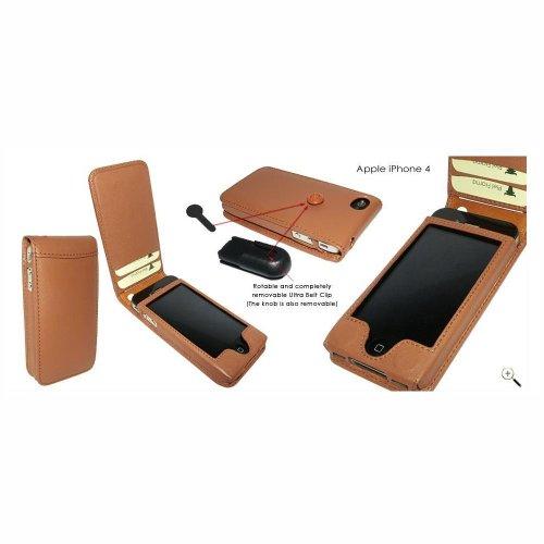 Piel Frama U497C Case Magnet Closure Ledertasche für Apple iPhone 4/4S hellbraun