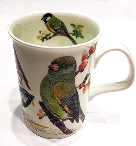 Roy Kirkham, England, Fine Bone China Lancaster Style Garden Birds Mug For Coffee Tea or Latte | Collectible.Dated 2004 ()