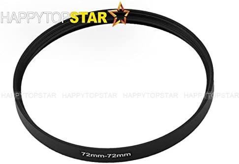 Black Aluminium Metal 72-72 mm 72mm 72 mm Female to Female Coupling Ring Adapter Adaptor Converter Interchanger for Lens Photo Camera