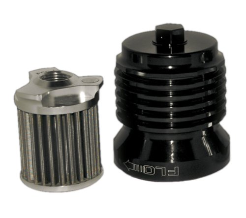 PC Racing PCS4B Black Stainless Steel Flo Oil Filter ()