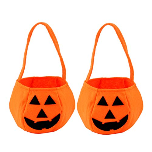 Halloween Pumpkin Trick or Treat Candy Bag for