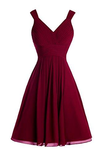 A Women's Dresses Burgundy Straps with Short Bridesmaid Bridal Line Bess Mini IgAHOHwq