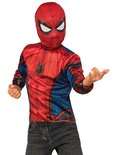 [Imagine by Rubies Spider-Man Homecoming 2-In-1 Reversible Costume Top & Web Back Pack, Small] (Reversible Spiderman Costumes)