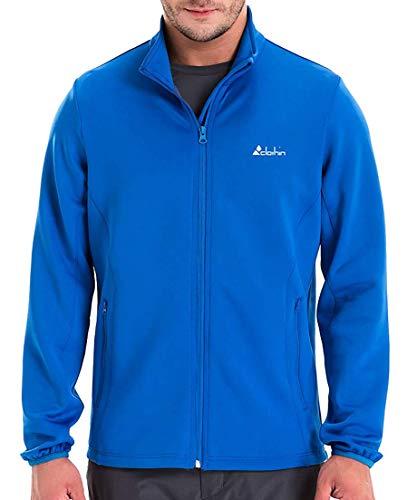 (Clothin Men's Training Running Full-Zip Jacket Long Sleeve Performance Track Athletic Outerwear(Blue,S))