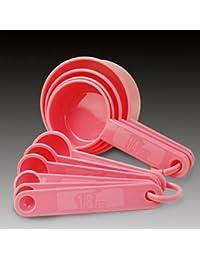 Take 10 Pieces Pink Baking Tools Measuring Spoons Set dispense