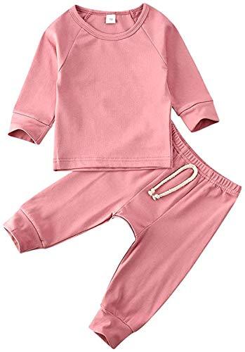 Pasgeboren Baby Jongen Meisje Kleding Lange Mouw Solid T-Shirt Top Elastische Lange Broek Baby Lente Outfits Set