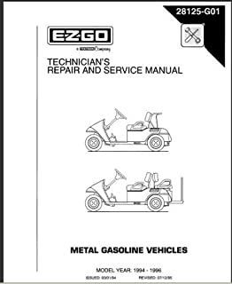 amazon com ezgo 27615g01 1996 2008 shop rebuild manual for 4 cycle rh amazon com Old Ezgo Golf Cart Parts Ezgo Golf Cart Year Identification