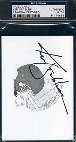 KEN STABLER PSA DNA Coa Autograph 3x5 Index Card Hand Signed Authentic