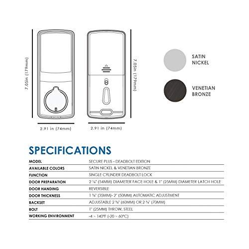 mua lockly bluetooth keyless entry door smart lock  pgd728
