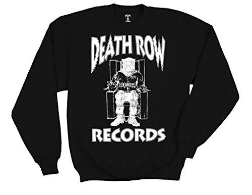 Ripple Junction Death Row Records White Logo Adult Sweatshirt Medium Black - Knight Sweatshirt T-shirt