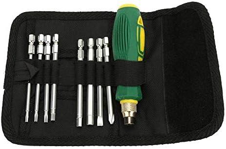 Fictor 9 1つのマルチ目的でCR-Vスチールクロス&SlottedScrewdriverは、修復のためのセットビット
