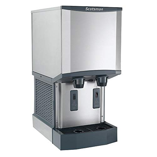 Scotsman Ice Machines Dispensers - Scotsman HID312A-1 Meridian Countertop Air Cooled Ice Machine and Water Dispenser - 12 lb. Bin Stora