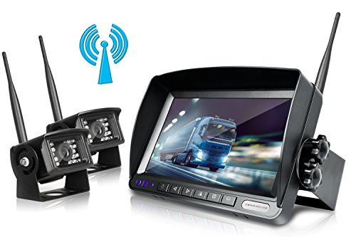 Digital Wireless Backup Camera System Kit,No Interference,IP69 Waterproof Wireless Rear View Camera + 7'' LCD Wireless Reversing Monitor for Truck/Semi-Trailer/Box Truck/RV ( WX02-7 inch )