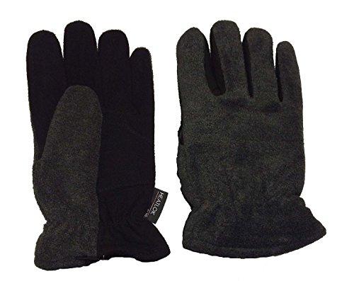 Heatlok Thermal Gloves Split Deerskin Palm (Black, Medium)