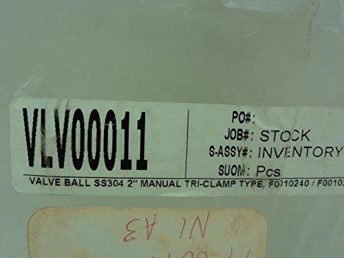 GSP VLV00011 Sanitary Ball Valve, SS, 2'' Clamp, 1000WOG