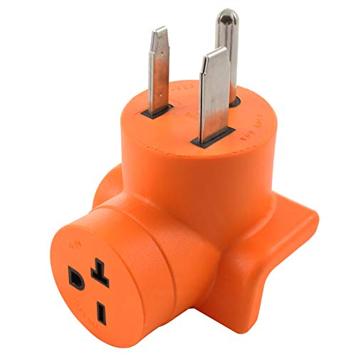 AC WORKS Welder 6-50P Plug to 6-20R 250V HVAC/Power Tools/EV Charging Female Adapter (Compact)