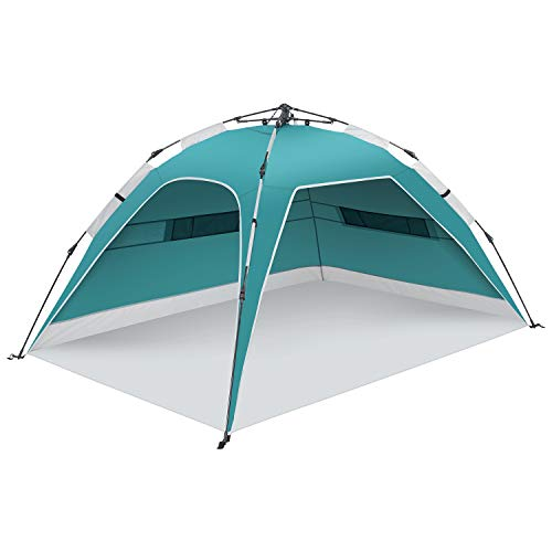 UU CAMP 2-3 People Automatic Easy Up Lightweight Beach Sun Shelter with UPF 50+ for Beach Trip, Camping, Fishing