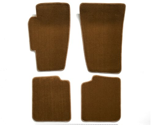 - Premier Custom Fit 4-piece Set Carpet Floor Mats for Audi (Premium Nylon, Caramel)