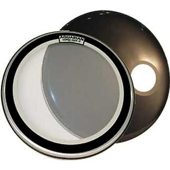 aquarian drumheads skp22bk super kick 1 prepack 22 inch bass drum head gloss black. Black Bedroom Furniture Sets. Home Design Ideas