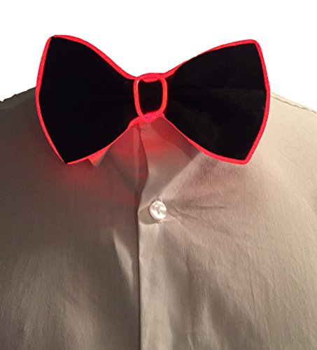 GlowTies LED Bowties Costume Accessory for Halloween / Rave Party Gear Clothing (Red)