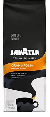Lavazza Gran Aroma Ground Coffee Blend, Medium Espresso Roast, 12-Ounce Bags (Pack of 6)