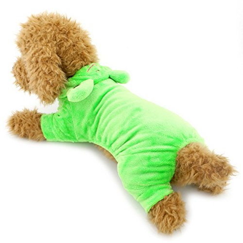 Ranphy Small Dog/Cat Frog Costume Halloween Comfy Puppy Outfit for Pets Male Green M (Cheap Costume Ideas Halloween)
