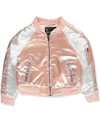 Girls Quilted Bomber Jacket - 7