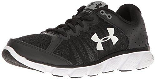 Under Armour Men's Micro G Assert 6-Wide (2E) Running Shoe Black (001)/White 7.5 US