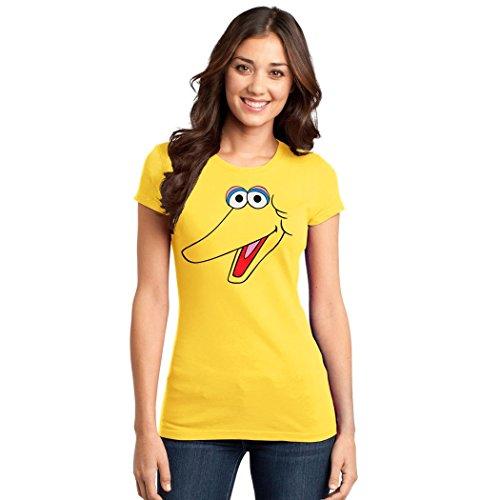 Bird Face Junior Womens T Shirt